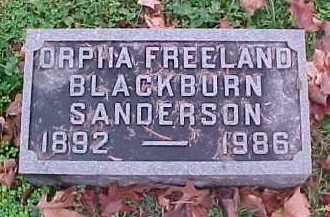 SANDERSON, ORPHA - Scioto County, Ohio | ORPHA SANDERSON - Ohio Gravestone Photos