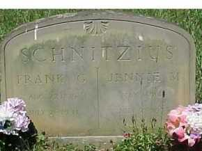 SCHNITZIUS, JENNIE M. - Scioto County, Ohio | JENNIE M. SCHNITZIUS - Ohio Gravestone Photos