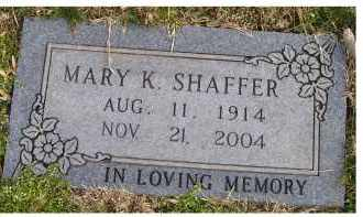SHAFFER, MARY K. - Scioto County, Ohio | MARY K. SHAFFER - Ohio Gravestone Photos