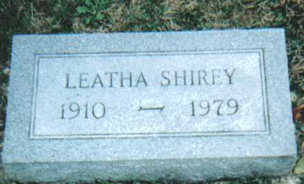 SHIREY, LEATHA - Scioto County, Ohio | LEATHA SHIREY - Ohio Gravestone Photos