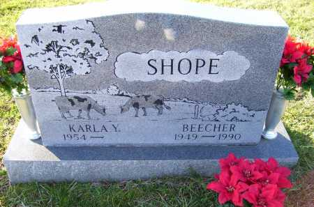 SHOPE, KARLA Y. - Scioto County, Ohio | KARLA Y. SHOPE - Ohio Gravestone Photos