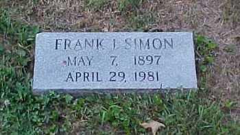 SIMON, FRANK I. - Scioto County, Ohio | FRANK I. SIMON - Ohio Gravestone Photos