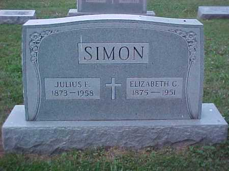 SIMON, ELIZABETH G. - Scioto County, Ohio | ELIZABETH G. SIMON - Ohio Gravestone Photos