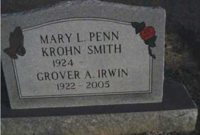 PENN SMITH, MARY L. KROHN - Scioto County, Ohio | MARY L. KROHN PENN SMITH - Ohio Gravestone Photos