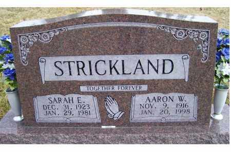 STRICKLAND, AARON W. - Scioto County, Ohio | AARON W. STRICKLAND - Ohio Gravestone Photos