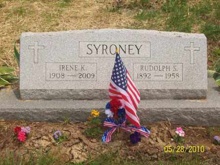 SYRONEY, IRENE - Scioto County, Ohio | IRENE SYRONEY - Ohio Gravestone Photos