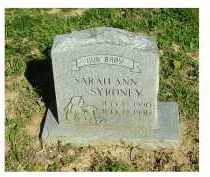 SYRONEY, SARAH ANN - Scioto County, Ohio | SARAH ANN SYRONEY - Ohio Gravestone Photos
