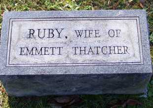 THATCHER, RUBY - Scioto County, Ohio | RUBY THATCHER - Ohio Gravestone Photos