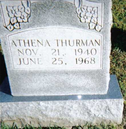 THURMAN, ATHENA - Scioto County, Ohio | ATHENA THURMAN - Ohio Gravestone Photos