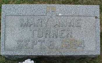 TURNER, MARY ANNE - Scioto County, Ohio | MARY ANNE TURNER - Ohio Gravestone Photos