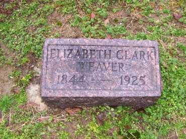 CLARK WEAVER, ELIZABETH - Scioto County, Ohio | ELIZABETH CLARK WEAVER - Ohio Gravestone Photos