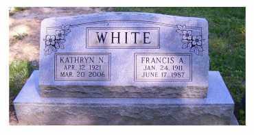 WHITE, FRANCIS A. - Scioto County, Ohio | FRANCIS A. WHITE - Ohio Gravestone Photos