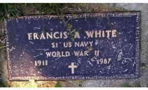WHITE, FRANCIS A. - Scioto County, Ohio | FRANCIS A. WHITE - Ohio Gravestone Photos