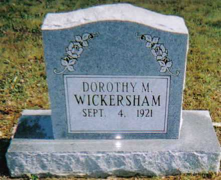 WICKERSHAM, DOROTHY M. - Scioto County, Ohio | DOROTHY M. WICKERSHAM - Ohio Gravestone Photos