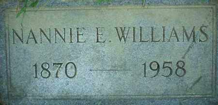 WILLIAMS, NANNIE E. - Scioto County, Ohio | NANNIE E. WILLIAMS - Ohio Gravestone Photos