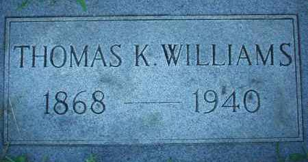 WILLIAMS, THOMAS K. - Scioto County, Ohio | THOMAS K. WILLIAMS - Ohio Gravestone Photos