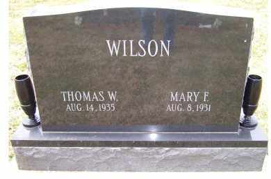 WILSON, MARY F. - Scioto County, Ohio | MARY F. WILSON - Ohio Gravestone Photos