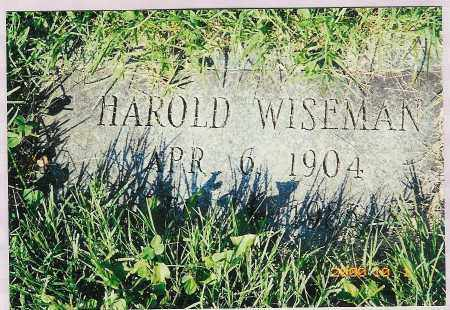 WISEMAN, HAROLD - Scioto County, Ohio | HAROLD WISEMAN - Ohio Gravestone Photos