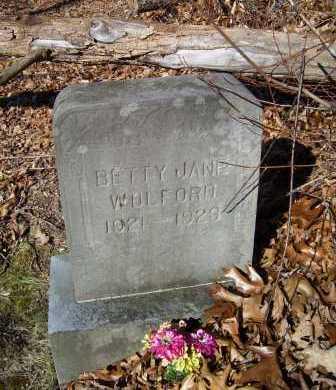 WOLFORD, BETTY JANE - Scioto County, Ohio   BETTY JANE WOLFORD - Ohio Gravestone Photos