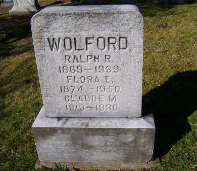 WOLFORD, RALPH R. - Scioto County, Ohio | RALPH R. WOLFORD - Ohio Gravestone Photos