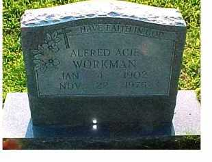 WORKMAN, ALFRED ACIE - Scioto County, Ohio | ALFRED ACIE WORKMAN - Ohio Gravestone Photos