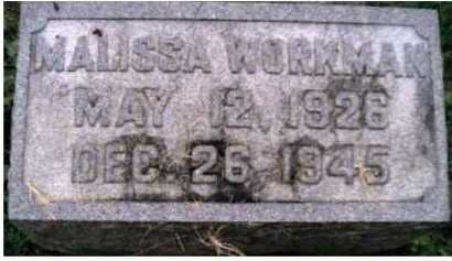 WORKMAN, MALISSA - Scioto County, Ohio | MALISSA WORKMAN - Ohio Gravestone Photos