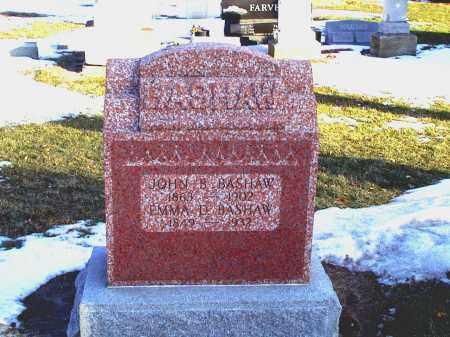 BASHAW, JOHN B - Seneca County, Ohio | JOHN B BASHAW - Ohio Gravestone Photos