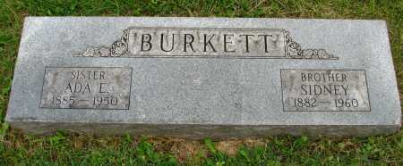 BURKETT, ADA - Seneca County, Ohio | ADA BURKETT - Ohio Gravestone Photos