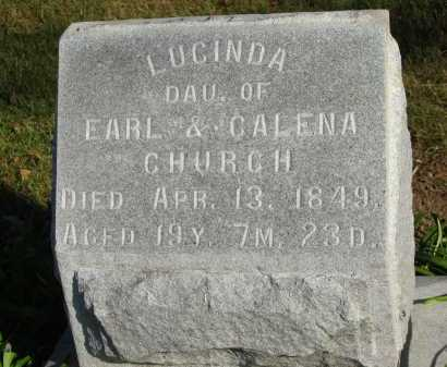 CHURCH, LUCINDA - Seneca County, Ohio | LUCINDA CHURCH - Ohio Gravestone Photos