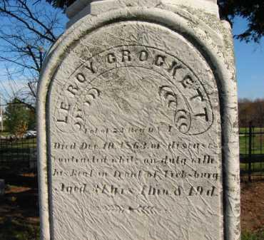 CROCKETT, LEROY - Seneca County, Ohio   LEROY CROCKETT - Ohio Gravestone Photos