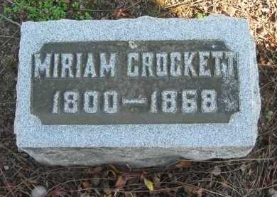 CROCKETT, MIRIAM - Seneca County, Ohio | MIRIAM CROCKETT - Ohio Gravestone Photos