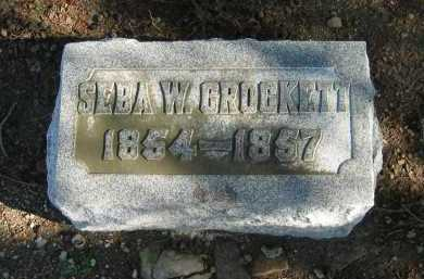 CROCKETT, SEBA W. - Seneca County, Ohio | SEBA W. CROCKETT - Ohio Gravestone Photos