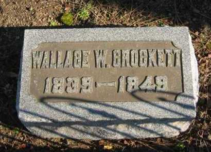 CROCKETT, WALLACE W. - Seneca County, Ohio | WALLACE W. CROCKETT - Ohio Gravestone Photos