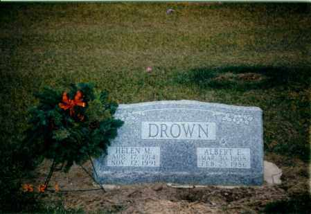 DROWN, ALBERT EUGENE - Seneca County, Ohio | ALBERT EUGENE DROWN - Ohio Gravestone Photos