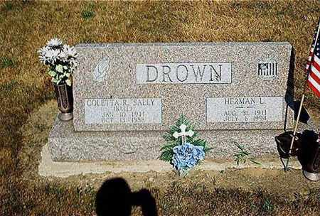 DROWN, HERMAN LEONARD - Seneca County, Ohio | HERMAN LEONARD DROWN - Ohio Gravestone Photos