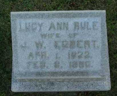EGBERT, LUCY ANN - Seneca County, Ohio | LUCY ANN EGBERT - Ohio Gravestone Photos