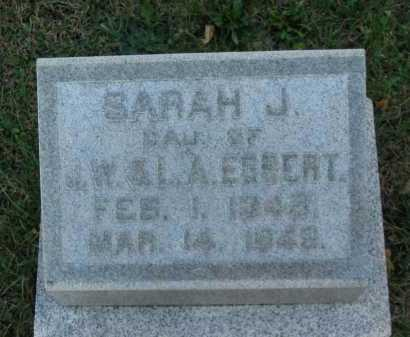 EGBERT, SARAH J. - Seneca County, Ohio | SARAH J. EGBERT - Ohio Gravestone Photos