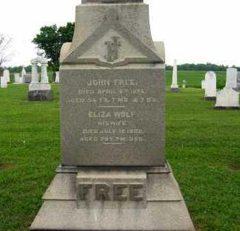 WOLF FREE, ELIZA - Seneca County, Ohio | ELIZA WOLF FREE - Ohio Gravestone Photos