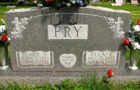 FRY, ELMER H. - Seneca County, Ohio | ELMER H. FRY - Ohio Gravestone Photos