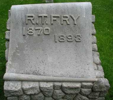 FRY, R. T. - Seneca County, Ohio | R. T. FRY - Ohio Gravestone Photos