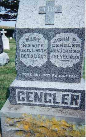 GENGLER, JOHN P & MARIA - Seneca County, Ohio | JOHN P & MARIA GENGLER - Ohio Gravestone Photos