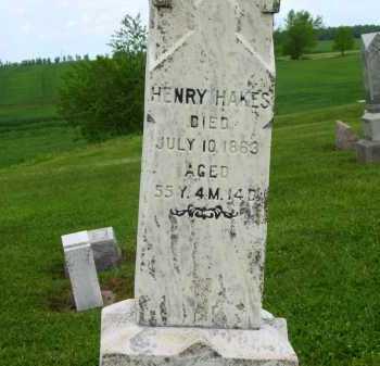 HAKES, HENRY - Seneca County, Ohio | HENRY HAKES - Ohio Gravestone Photos