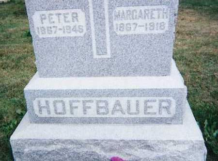 HOFFBAUER, PETER & MARGARETH - Seneca County, Ohio | PETER & MARGARETH HOFFBAUER - Ohio Gravestone Photos
