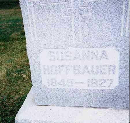 HOFFBAUER, SUSANNA - Seneca County, Ohio | SUSANNA HOFFBAUER - Ohio Gravestone Photos