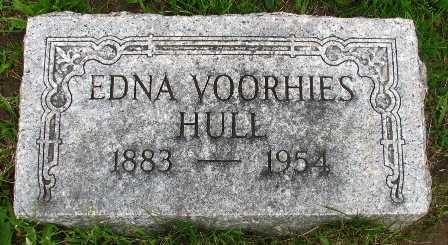 VOORHIES HULL, EDNA - Seneca County, Ohio | EDNA VOORHIES HULL - Ohio Gravestone Photos