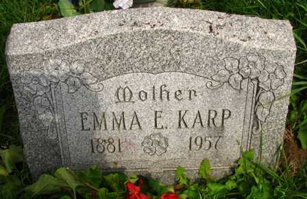 KARP, EMMA E. - Seneca County, Ohio | EMMA E. KARP - Ohio Gravestone Photos