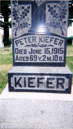 KIEFER, PETER - Seneca County, Ohio | PETER KIEFER - Ohio Gravestone Photos