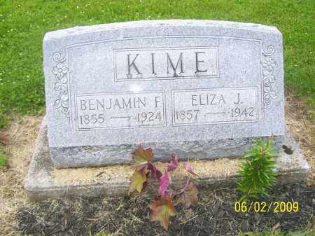 KIME, BENJAMIN FRANKLIN - Seneca County, Ohio | BENJAMIN FRANKLIN KIME - Ohio Gravestone Photos