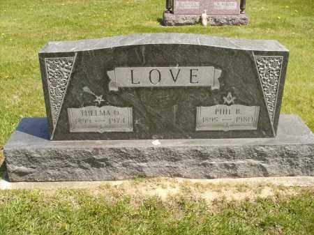 LOVE, PHIL BARBEE - Seneca County, Ohio | PHIL BARBEE LOVE - Ohio Gravestone Photos