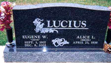 BROSE LUCIUS, ALICE L. - Seneca County, Ohio | ALICE L. BROSE LUCIUS - Ohio Gravestone Photos